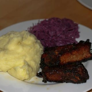 Barbecue Ribs with Mashed Potato