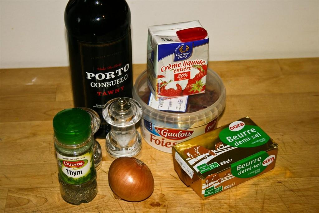 Christmas Liver Paté Ingredients