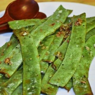 Lemongrass Roasted Runner Beans