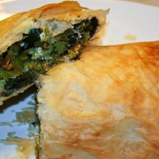 Roasted Vegetable and Feta Strudel