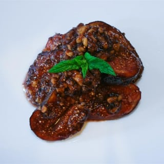 Honey, Balsamic Vinegar and Walnut Glazed Figs