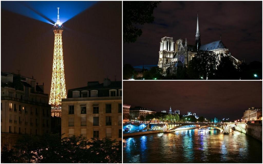 Eiffel Tower, Notre Dame, Hotel de Ville