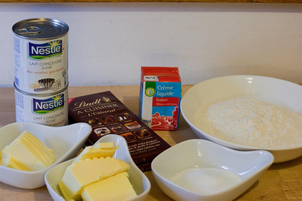 Millionaire's Shortbread ingredients