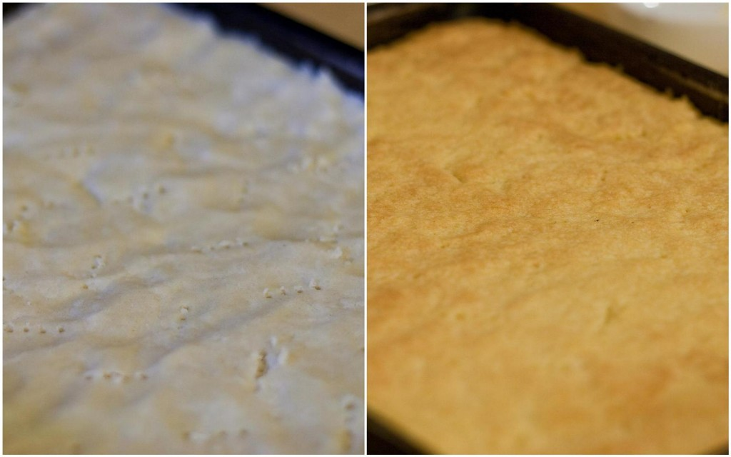 Baking the shortbread