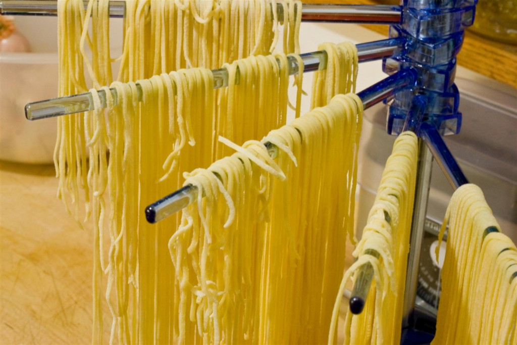 Resting the pasta