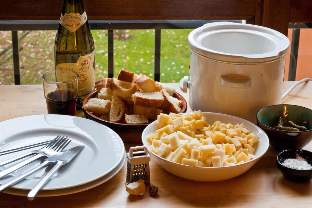 Fondue Savoyarde ingredients
