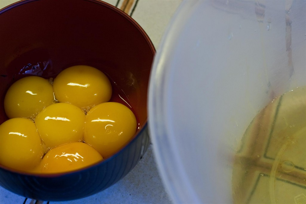 Separating whites and yolks