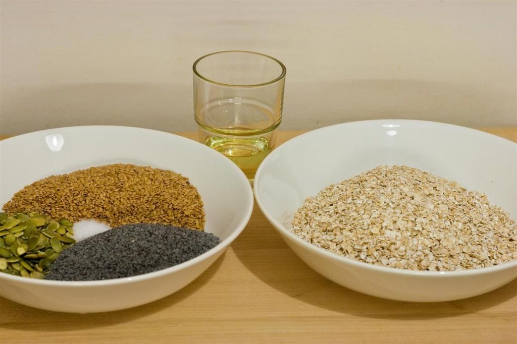 Knäckebröd ingredients