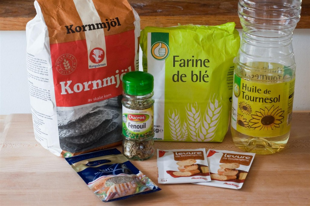 Tunnbröd ingredients