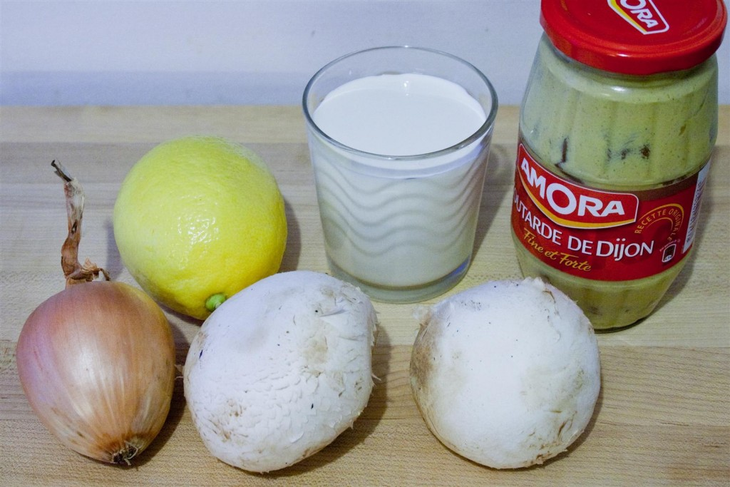 Mushroom and Onion Steak Sauce ingredients