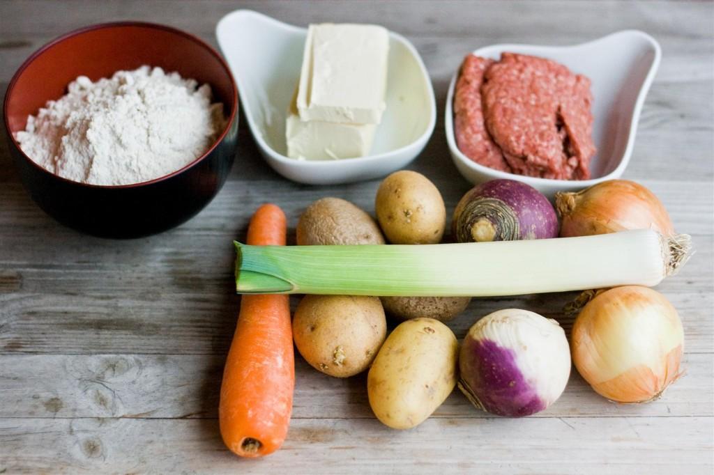 Cornish Pasties ingredients