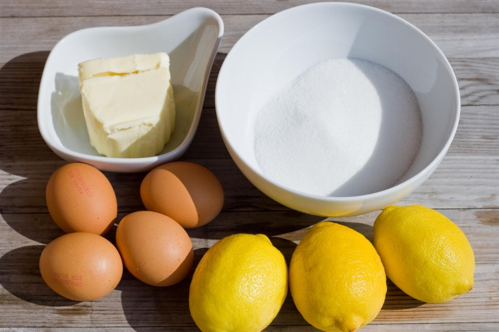 Lemon Curd ingredients
