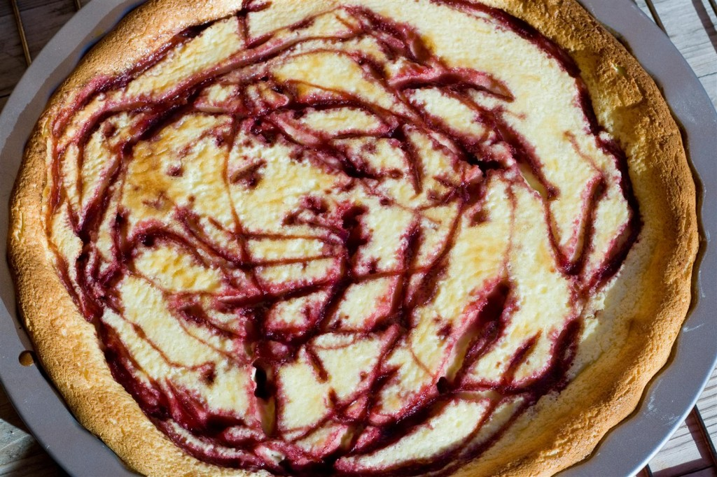 The baked cheesecake