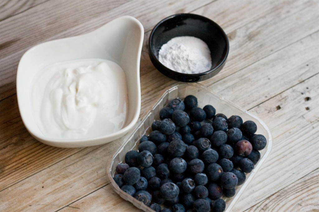Instant Blueberry Ice-Cream ingredients