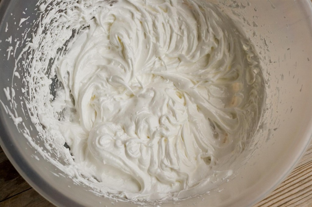 Whisking the egg whites