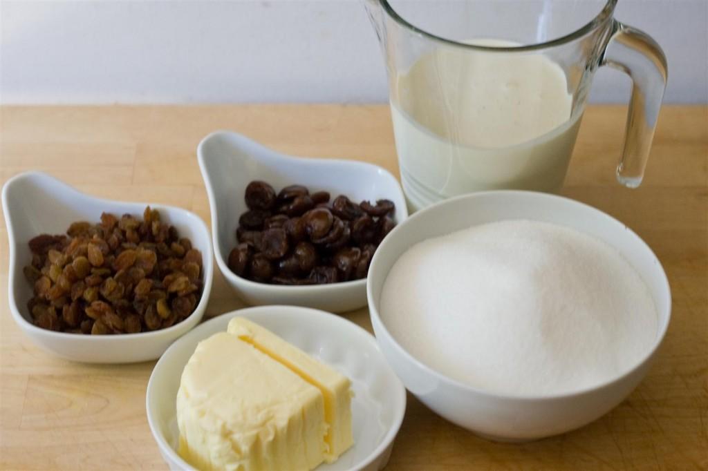 Cream Fudge ingredients