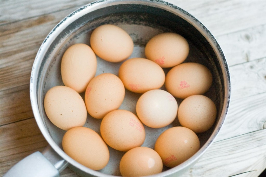 Boiling the eggs