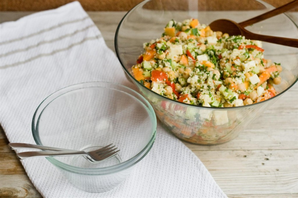 Papaya, Chickpea and Feta Salad
