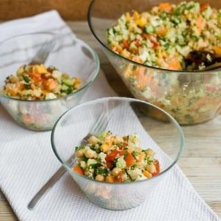 Papaya, Chickpea and Feta Salad