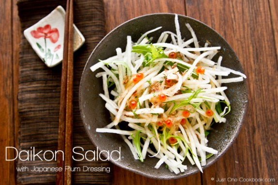 Daikon Salad with Japanese Plum Dressing