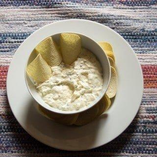 Onion, Garlic and Basil Dip