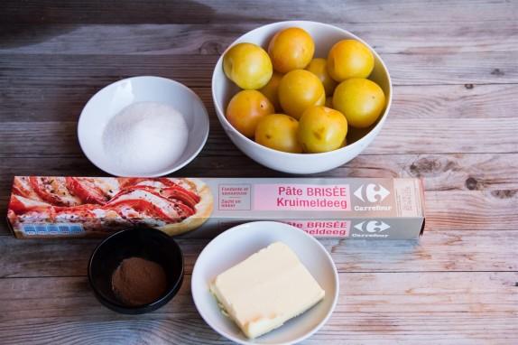 Spiced Plum Tart ingredients