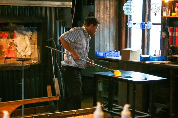 Glass-blowing at Skansen