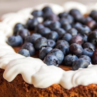 Strawberry, Blueberry, and Caramel Cheesecake