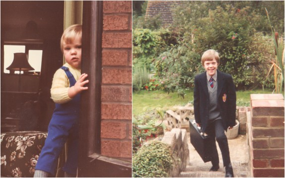 Toddler me and my first day of a new school