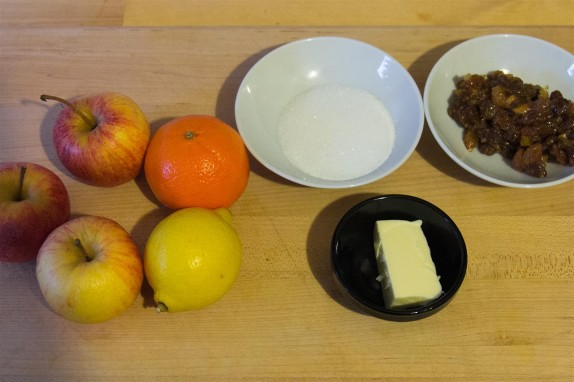 Mincemeat stuffed Baked Apples ingredients