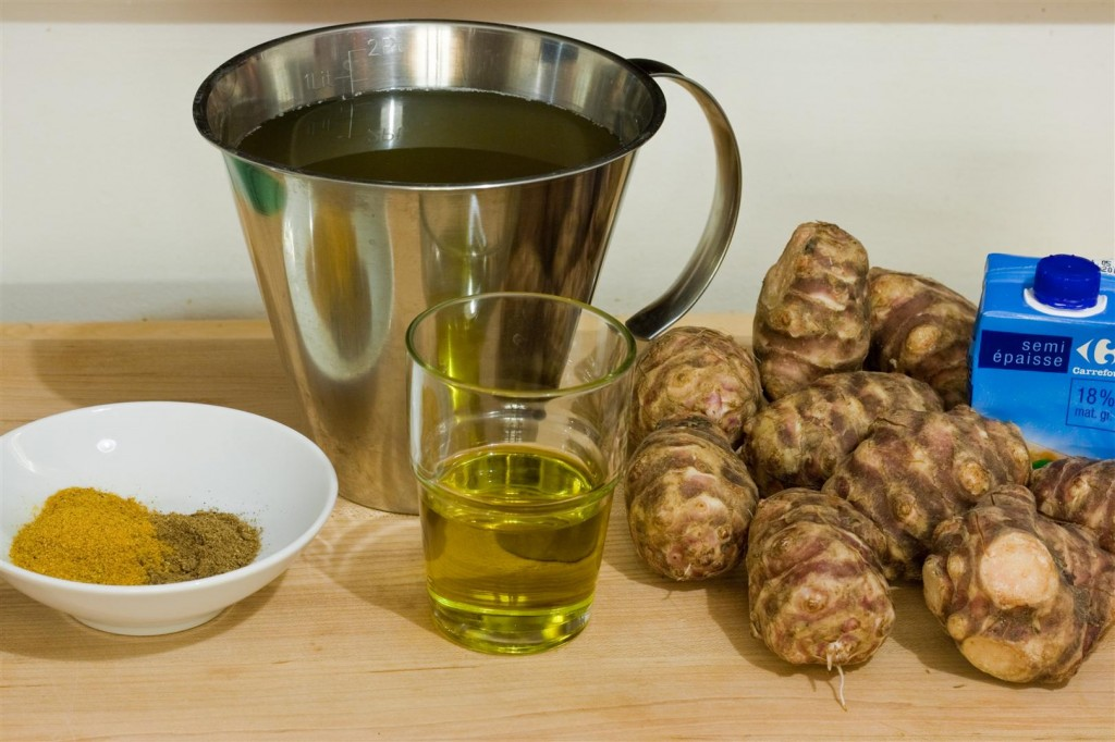 Curry-Roasted Jerusalem Artichoke Soup ingredients