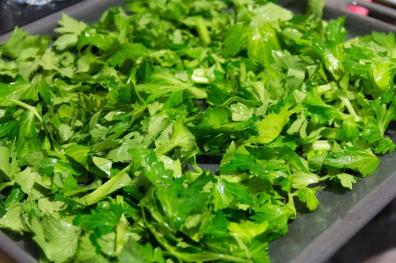 Preparing the leaves for drying