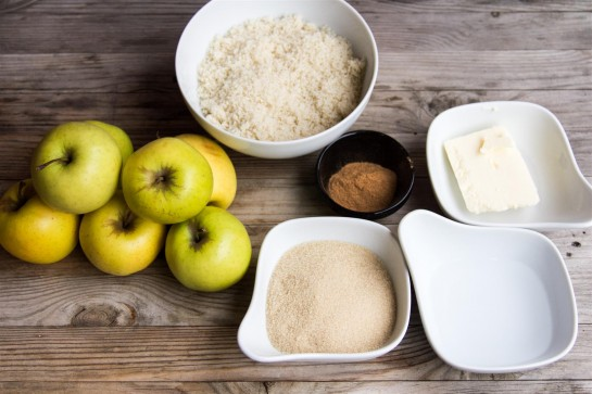 Swedish Apple Cake ingredients