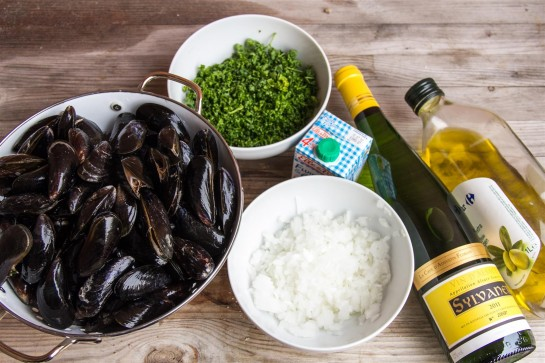 Moules Frites ingredients