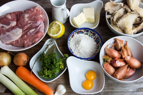 Blanquette de Veau ingredients