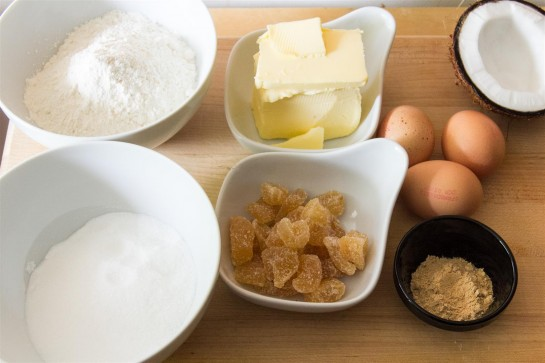 Coconut and Ginger Cake ingredients