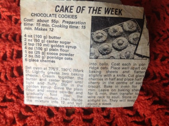 The beloved cookie recipe