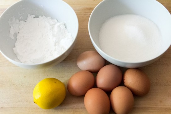 Gluten-free Lemon Cake ingredients