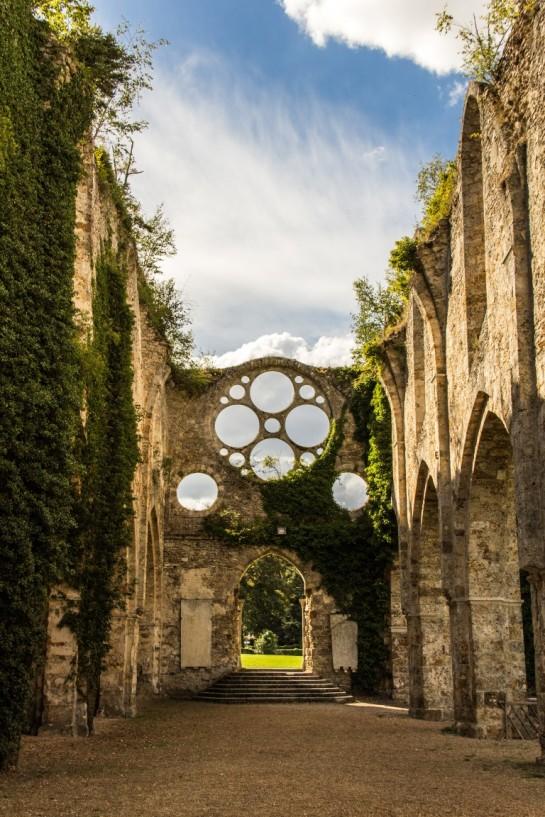 The church at the Abbaye des Vaux de Cernay