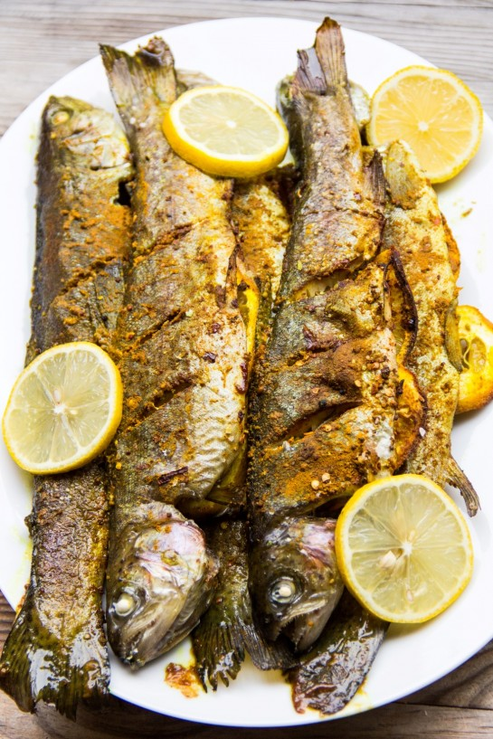 Roasted Trout with Turmeric and Piri Piri