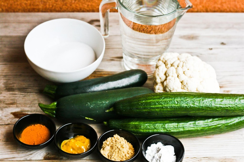 Piccalilli ingredients