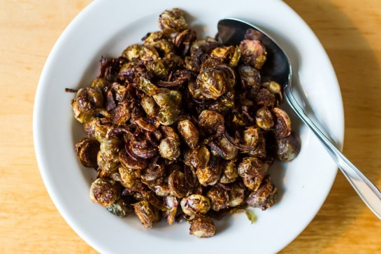 Curry-Roasted Brussels Sprouts