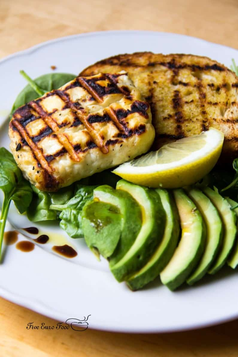 Halloumi and Avocado Salad