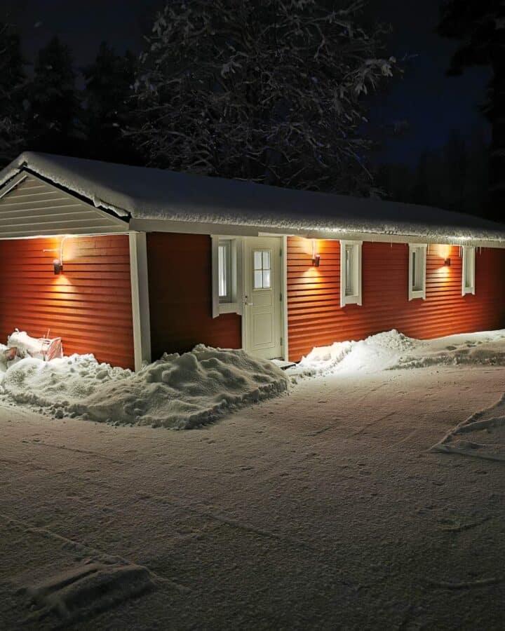 Pottery studio in the snow